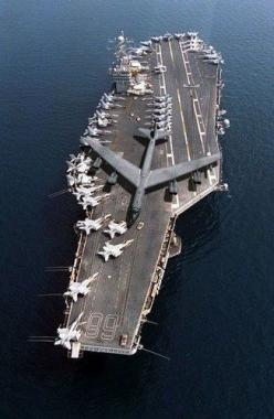 B52 being hauled to repair aboard US Air Craft Carrier in 2009.: Uss Nimitz, B52, Stuff, Airplanes, Aircraft, Ships, Navy, Military, Aircraft Carriers