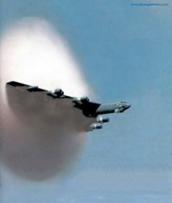 B52 Stratofortress -crossing the sound barrier: Sound Barrier, B52, Airplane, Aircraft, Soundbarrier, Photo, Planes, Top
