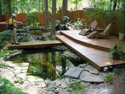 backyard ponds | Backyard Garden Design with Japanese Koi Ponds with natural materials ...: Pond Ideas, Backyard Ponds, Water Features, Koi Ponds, Outdoor, Water Garden