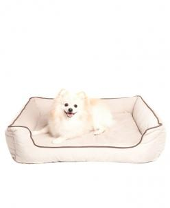 Beige Suede Pet Bed//: Pets Beds, Animals, Precious Pets, Bolster Pet, Suede Bolster, Pet Beds, Dog, Beige Suede, Adorable Pets