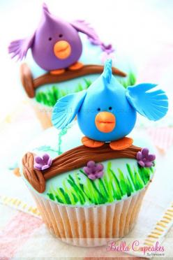 Birdie on a Branch Cupcake - So adorable!! Looks like it should be Jessica Plater's next project! :D: Cup Cakes, Branch Cupcake, Recipe, Birdies Cupcake, Birdie Cupcakes, Bird Cupcakes, Cake Pop, Birds Cupcake, Spring Cupcake