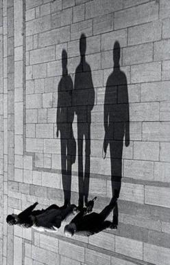 Black & White | walk | talk | friends | shadows | shadow | perspective | giants | stroll |: Picture, Photos, Inspiration, Silhouette, Art, Black White, Shadows, Photography