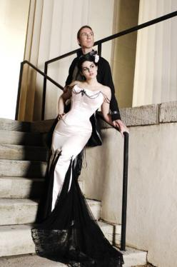 black wedding dress: Halloween Wedding, Wedding Dressses, White Wedding, Gothic Wedding, Wedding Dresses, Wedding Ideas, Wedding Gown, Weddings
