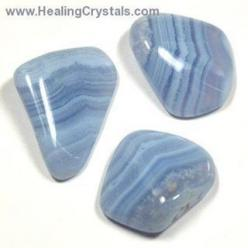Blue Lace Agate is great for activating and healing the Throat Chakra and for balancing the brain. This stone enhances verbal communication and expression, helping one to be more discerning in their word choices. Put a piece of tumbled Blue Lace Agate in