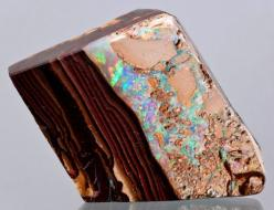 Boulder Opal from Australia.  Boulder Opal comprises 2% of the world's opal production.  Precious!: Agates Stones Gems Minerals, Australia, Aggregates Minerals Gems, Opals, Gems Gemstones Minerals, Minerals Stones Gems N Rocks, Rocks Gems Minerals