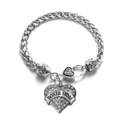 Boxer Mom Pave Heart Charm Bracelet: Mascot Pave, Heart Charm, Girl, Charm Bracelets, Charms, Heart Bracelet, Pave Heart, Products