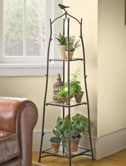 Branch Plant Stand | Buy from Gardener's Supply would work for inside plants cute with bird on top: House Plants, Decor, Ideas, Branch Plant, Houseplants, Indoor Plant Stands, Branches, Indoor Plants