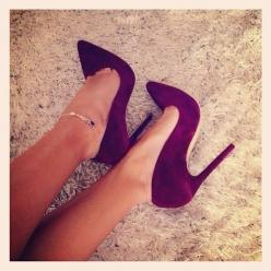 burgundy pumps. shop the look now!: Burgundy Heel, Purple Heel, Pump, High Heels, Shoes Heels, Maroon Heel