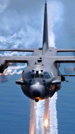 C-130 Hercules deploy flares US Air force Help celebrate a great career in the US Air force Personalized custom Air force rings : http://www.military-rings.com/airforce-rings/ #us #military #airforce #USMilitary: Ac 130 Hercules, Deploy Flares, Airplane,