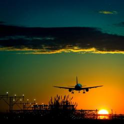 Can we pretend That airplanes in the night sky are like shooting stars...: Photos, Sunsets, Airplane, Beautiful, Sunrise Sunset, Places, Travel, Planes, Photography