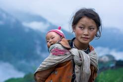 Children of the Mountains  www.mitchellkphotos.com  Langtang Region, Nepal, 2007: Babywearing, Baby Wearing, Mothers, Mitchell Kanashkevich, Children, Beautiful Faces, Beautiful People, Photography, Culture