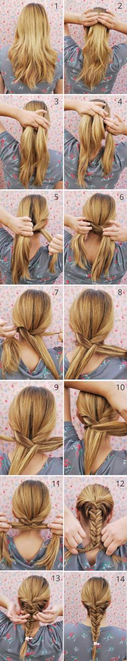 Classic Fishtail Braid Tutorial (easy to follow): Hair Ideas, Fishtail Braid Tutorials, Hair Styles, Hairstyle Tutorials, Fishtail Braids, Classic Fishtail, Fishtail Braid Hairstyles