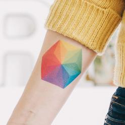 Color wheel tattoo, this one has amazing coloring.  color tattoo | forearm tattoo | arm tattoo | tattoo ideas | tattoo inspiration: Tattoo Ideas, Tattoo Arm, Color Tattoos, Color Wheel Tattoo, Tattoo Inspiration, Color Wheels, Geometric Tattoo, Forearm Ta
