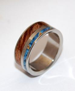 Cool band for him!  Earth By Water II  Wooden Wedding Rings by MinterandRichterDes, $275.00: Etsy, Wedding Ideas, Weddings, Beautiful Rings, Earth Rings, Wedding Rings, Water Ii, Ii Wooden