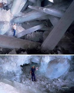 Crystal caves, Naica Mine, Mexico: Crystals Rocks Gems, Caves Caverns Mines, Caves Cueva, Vacation Crystal Caves, Caves Etc, Stones Crystals Gems Rocks, Chihuahua Desert, Caves Amazing