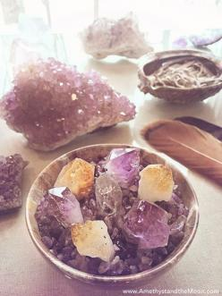 Crystal Point Garden ~ Amethyst and the Moon: Stones Gems Crystals, Gemstones Blog, Crystals Stones, Crystal Grid, Crystal Healing, Crystals Gemstones, Minerals Gemstones