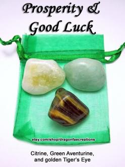 Crystals for prosperity & good luck - Citrine, Green Aventurine and Golden Tiger's Eye.: Good Luck, Healing Crystals, Crystals Stones, Gemstones Crystals, Crystal Healing, Crystals Rocks Gemstones, Crystals Gemstones, Prosperity, Crystals Gems Sto