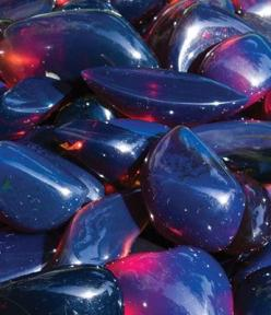 Cut and Polished Blue Amber from Sumatra: