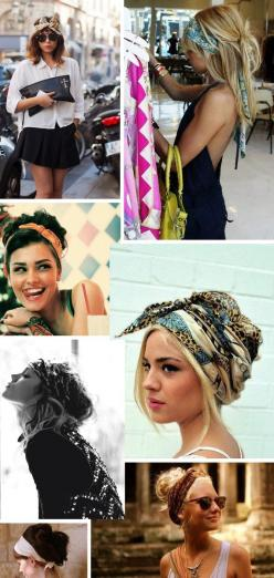 different ways to wear head scarves: Head Scarfs, Hairstyles, Headwrap, Head Scarves, Hair Styles, Headscarf, Hair Scarf