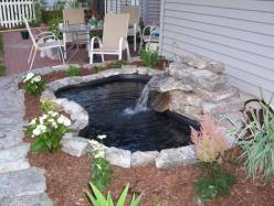 DIY pond   going to try this...someday!: Water Feature, Pond Ideas, Water Gardens, Koi Ponds, Outdoor