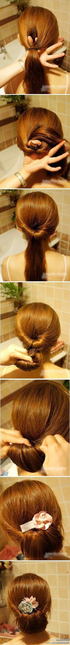 easy!: Hair Ideas, Hairstyles, Hairdos, Hair Styles, Hair Tutorial, Makeup, Hair Do, Updos, Easy Updo