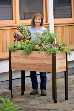 Elevated Garden Beds on Legs | Standing Garden | Made in Vermont: Standing Garden, Garden Ideas, Raised Beds, Outdoor, Gardening, Gardens, Garden Beds, Self Watering, Raised Garden