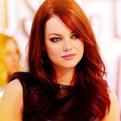 Emma Stone - a genuine funny girl; but what I like best about her is she comes across as genuinely smart. Brains are the sexiest feature a girl can have.: Hairstyles, Hair Colors, Hair Styles, Haircolor, Emma Stone, Makeup, Haircut, Stones