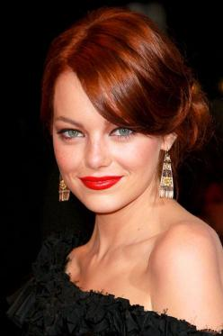 Emma Stone: Hair Colors, Colored Hair, Emma Stone, Wedding Hairs, Red Hair Color, Hair Updos Short