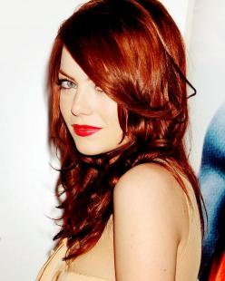 Emma Stone...red hair. Red lips!: Hair Colors, Red Hair, Haircolor, Emma Stone, Hairstyle, Redhead, Stones, Red Head