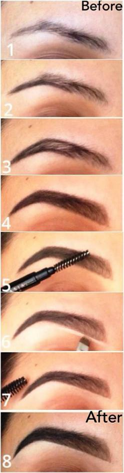 eyebrow how-to: every girl should know this, and how to properly shape your eyebrows: Makeup Tutorial, Make Up, Beauty Tips, Eye Brows, Makeup Tips, Eyebrow Tutorial, Hair Makeup, Perfect Eyebrows