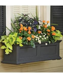 Fairield Window Box from Gardeners Supply: Color, Flowerbox, Windows, Front Window, Flower Boxes, Fairfield Windowbox, Container Gardening, Window Boxes