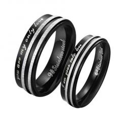 Fashion Black Surgical Stainless Steel Couple Promise Rings Mens Ladies Birthday/Anniversary/engagement/wedding Bands 316L: Couple Rings, Steel Couple, Wedding Bands, Jewelry, You Are, Black, Stainless Steel, Promise Rings
