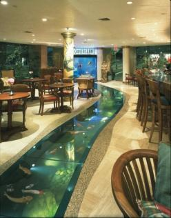 fish tank wall | Fish tanks: Water Aquarium, Beverly Hills, Idea, Floor Aquarium, Floors, Fish Tanks, Dream House, Fishtanks, Crustacean Restaurant