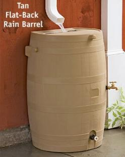 Flat-back rain barrel: Ideas Jardineria, Building, Gardenening Ideas, Rain Barrel Ideas