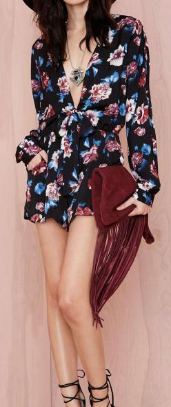 Floral romper: Rompers Outfit, Shorts Outfit, Floral Outfit, Breaking Outfit, Floral Romper