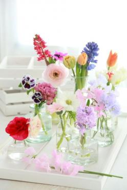 flower bouquet of vases | the nordic house blog: Spring Flowers, Idea, Color, Wedding, Flower Arrangements, Pretty Flower, Garden, Floral, Flower