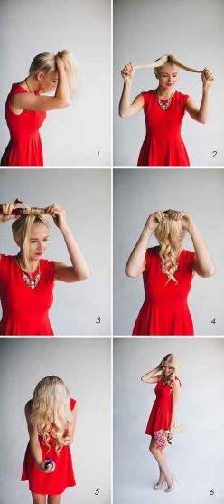 For quick curls, put your hair in a ponytail first and divide and conquer. | 26 Lazy Girl Hairstyling Hacks: Hair Ideas, Quick Curls, Hair Hack, Hairstyles, Easy Curls, Hair Styles, Hairdos, Hair Makeup