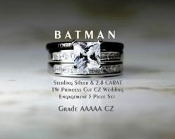 FREE CUSTOM LASER ENGRAVING, 30 characters maximum including spaces. This listing is for a STUNNING top quality 4 Piece TUNGSTEN Carbide & 2.8: Batman Wedding Rings Set, Batman Wedding Ring Set, Superman Wedding Ring, Men'S Rings Wedding, Geek Wed