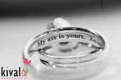 funny wedding ring inscription by our member Kivalo Photography: Engraved Wedding Rings, Married, Funny Wedding Photography, Wedding Ideas, Wedding Band, Funny Weddings, Unique Weddings