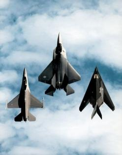 General Dynamics F-16 Fighting Falcon, Lockheed Martin F-22 Raptor and Lockheed F-117 Nighthawk: Airplanes Jets Helicopters, Aviation, Military Aircraft, F 16, F22, F16, Fighter Jets