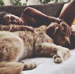 Girl and her dog: Girls, Animals, Life, Friends, Dogs, Lazy Sunday, Puppy, Photo, Golden Retriever