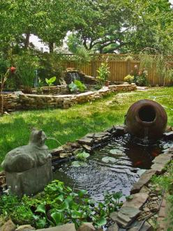 Google Image Result for http://nextguy.com/images/imageready/ponds.jpg: Water Feature, Pond Ideas, Amazing Gardens Ponds, Cat, Backyard Ponds, Garden Ponds, Water Garden, Garden