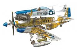 Hans Jenssen: Amazing Star Wars Vehicles, Location Cutaways, Mustangs, Airplanes Jets Aircrafts, Illustrations, Mustang Cutaways, Aviation Art, Hans Jenssen