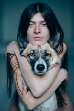 Her and her dog ..Pandora adopted from the street: Photos, Dogs, Beautiful, People, Photography, Eyes, Dog Pandora, Animal