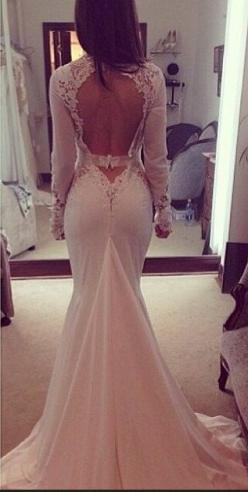 Hey, I found this really awesome Etsy listing at https://www.etsy.com/listing/159710102/sexy-open-back-modern-chiffon-long: Wedding Dressses, Sexy Wedding Dresses, Wedding Ideas, Chiffon Wedding Dresses, Wedding Gowns, Long Sleeve, Dream Wedding, Open Bac