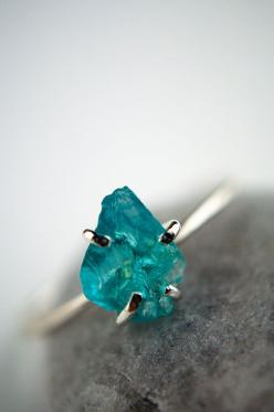 Hey, I found this really awesome Etsy listing at https://www.etsy.com/listing/182484225/rough-gemstone-ring-sterling-silver-aqua: Gemstones, Gemstone Rings, Aqua Blue, Gossamerscapes, Sterling Silver, Blue Apatite, Rustic