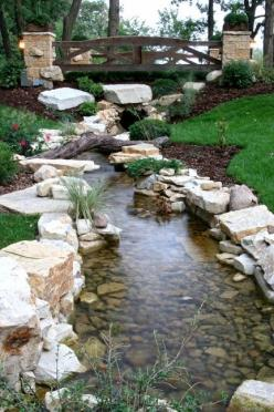 How amazing would this be to look at in ur backyard every day!: Water Gardens, Stream Idea, Water Features, Front Yard, Ponds Waterfalls, Backyard Brook, Backyard Stream, Back Yard