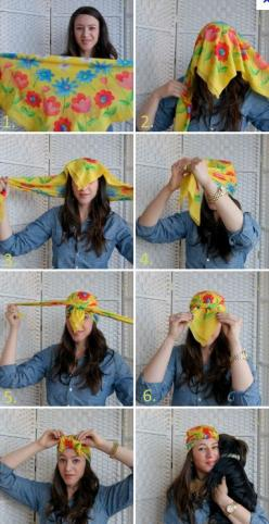 How to tie a turban with a silk scarf. I feel like this is yet another thing that looks lovely on Pinterest but would look ridiculous on me in real life.: Head Scarfs, Headscarfs, Head Wraps, Head Scarves, Tie, Turban, Headscarves, Hairstyle