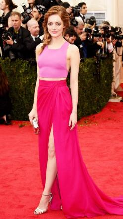 I LOVE this and i absolutely LOVE her! 2014 Met Gala Red Carpet - Emma Stone from #InStyle: Metgala, Fashion, Highlights Gala 2014, Style, Emma Stone, Dress, Red Carpet, Stones
