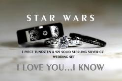 I wish I'd found these back when my husband and I renewed our vows at Celebration V!!    STAR WARS Tungsten and 925 Sterling Silver 1.15 by Cloud9Tungsten: Wedding Ideas, Weddings, Wars Tungsten, Star Wars, Sterling Silver, Wedding Rings, 925 Sterling